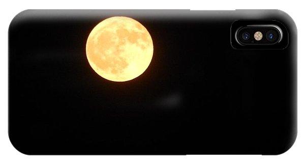 Tie Dyed Orange Moon IPhone Case