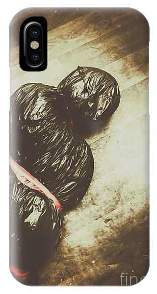 Tied And Wrapped Up Body In Garbage Bags IPhone Case
