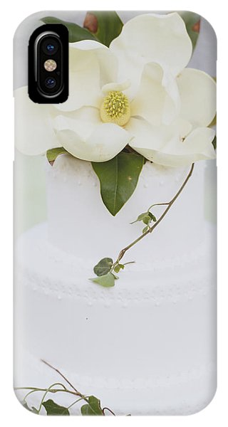 Bridal iPhone Case - Tiered Wedding Cake With Flower On Top by Gillham Studios