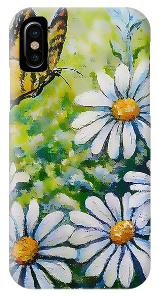 Tiger And Daisies  IPhone Case