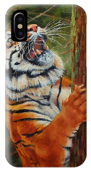Tiger Chasing Prey IPhone Case