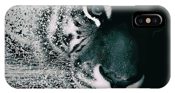 Digital Effect iPhone Case - Tiger Dispersion by Martin Newman