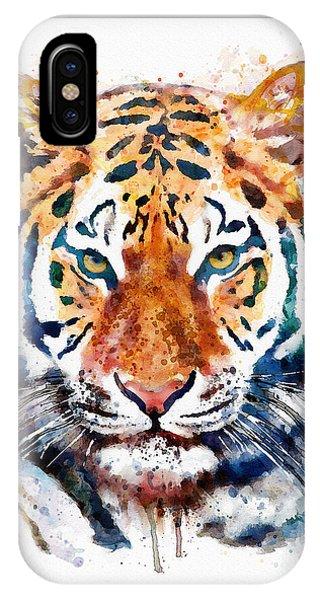 Tiger Head Watercolor IPhone Case