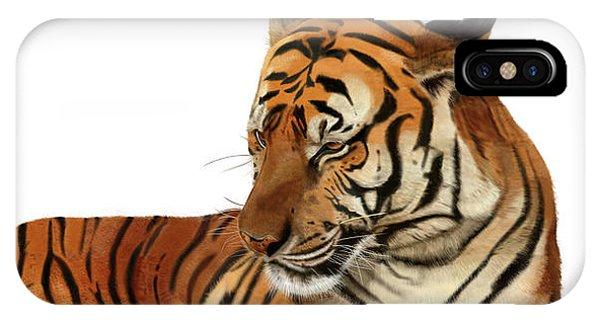 Tiger In Repose IPhone Case