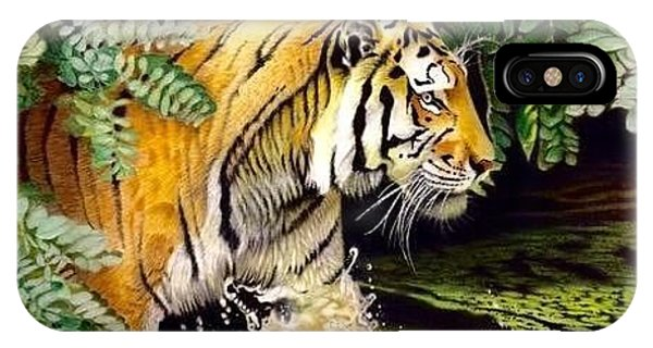 David Hoque iPhone Case - Tiger In The Dundurban Delta by David Hoque