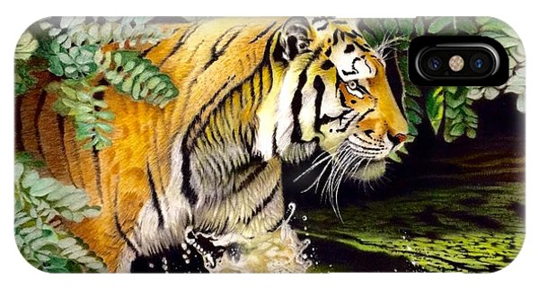Tiger In The Sunderban Delta IPhone Case