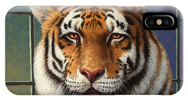Tiger iPhone Case - Tiger In Trouble by James W Johnson
