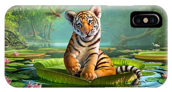 Reflection iPhone Case - Tiger Lily by Jerry LoFaro