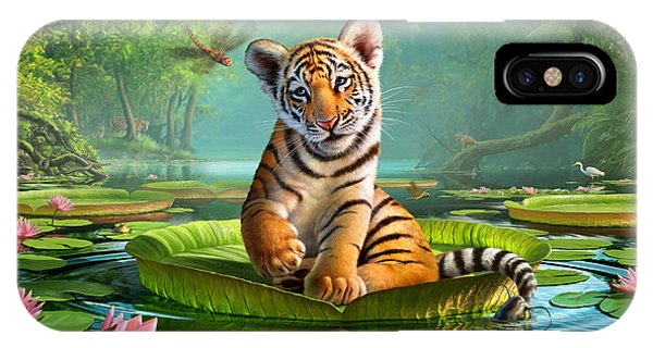 Tiger iPhone Case - Tiger Lily by Jerry LoFaro
