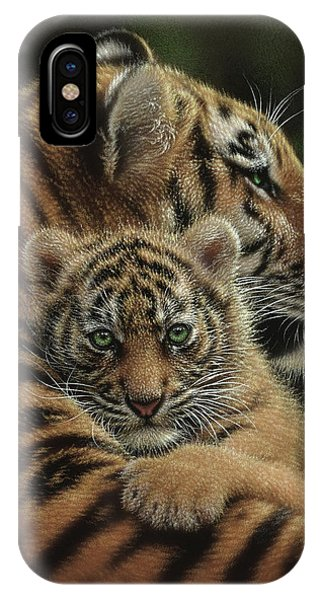 Tiger Mother And Cub - Cherished IPhone Case