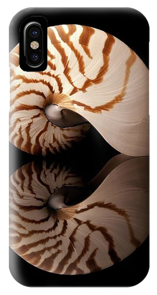 Tiger Nautilus Shell And Reflection IPhone Case