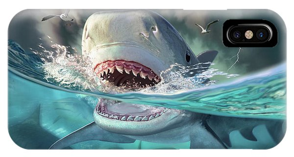 Seagull iPhone Case - Tiger Sharks by Jerry LoFaro