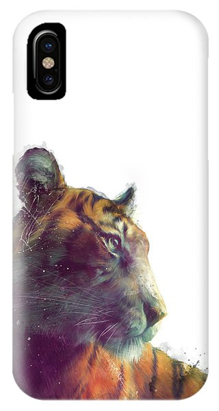 Fauna iPhone Case - Tiger // Solace - White Background by Amy Hamilton