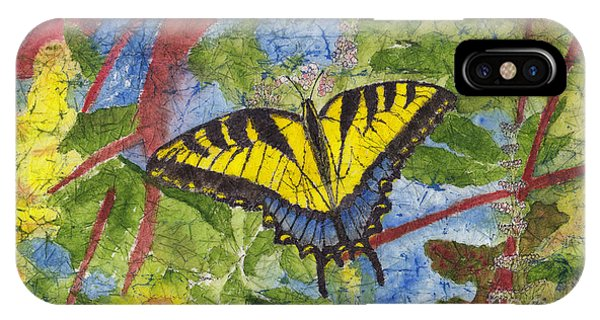 Tiger Swallowtail Watercolor Batik On Rice Paper IPhone Case