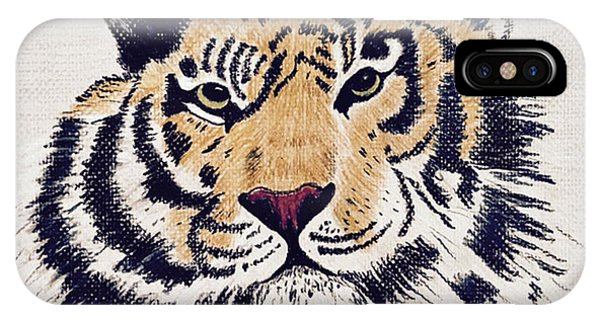 Tiger Tiger Burning Bright IPhone Case