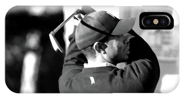 Tiger Woods Blk Wht  IPhone Case
