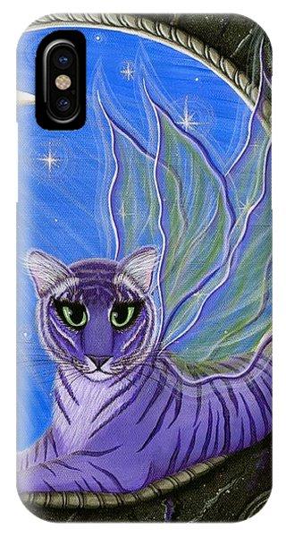 Tigerpixie Purple Tiger Fairy IPhone Case