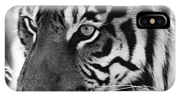 Tigress In Black And White IPhone Case