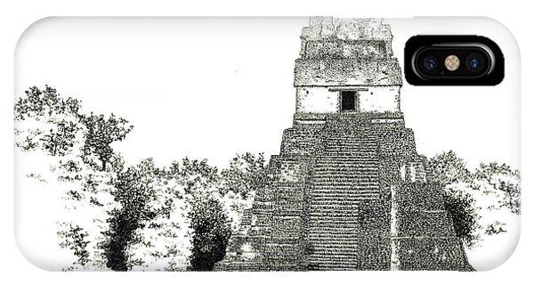 Tikal Temple I IPhone Case