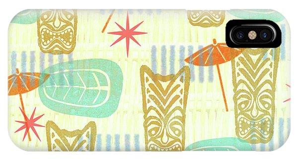Tiki Bar iPhone Case - Tiki Beach by Little Bunny Sunshine