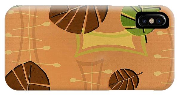 Tiki Bar iPhone Case - Tiki Lounge Wallpaper Pattern by Little Bunny Sunshine