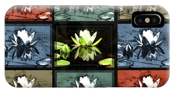Tiled Water Lillies IPhone Case