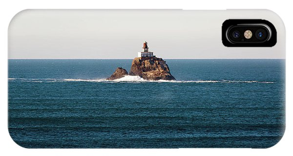 Tillamook Rock Lighthouse On A Calm Day IPhone Case