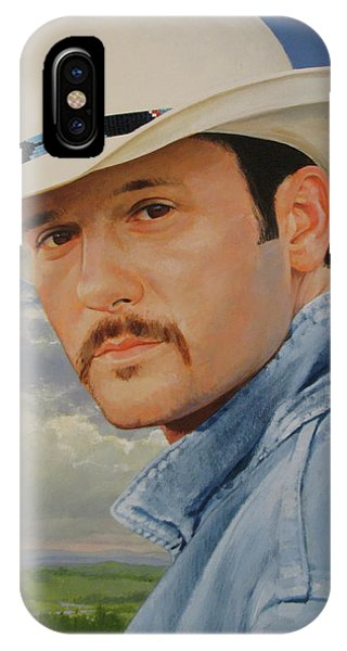 IPhone Case featuring the painting Tim Mcgraw by Cliff Spohn