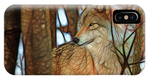 Timber Wolf Colorful Art IPhone Case