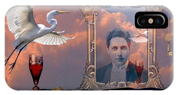 IPhone Case featuring the digital art Time Reflection by Alexa Szlavics