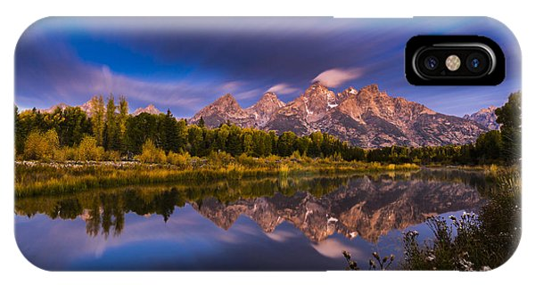 Teton iPhone Case - Time Stops Over Tetons by Edgars Erglis