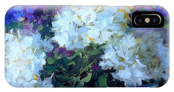 iPhone Case - Time To Dream White Hydrangeas by Nancy Medina