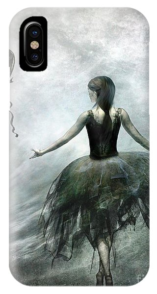 Ballerina iPhone Case - Time To Let Go by Jacky Gerritsen