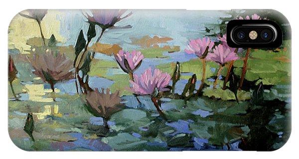 Betty Billups iPhone Case - Times Between - Water Lilies by Betty Jean Billups