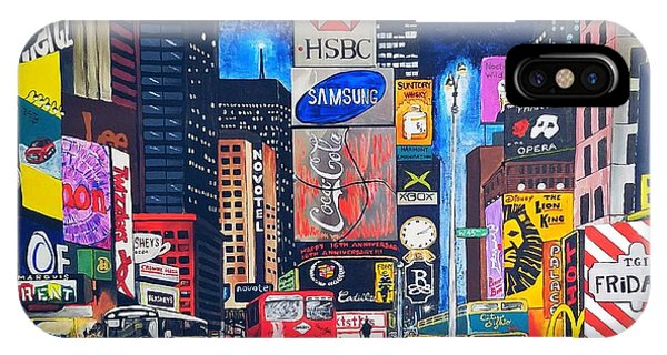 iPhone Case - Times Square by Autumn Leaves Art