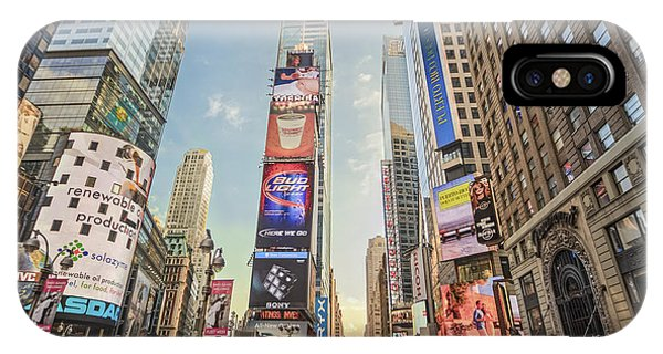 IPhone Case featuring the photograph Times Square Hustle by Ray Warren