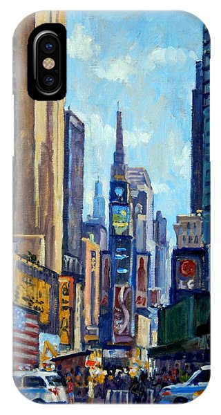 Times Square Morning New York City IPhone Case