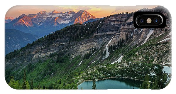 Timpanogos And Silver Lake. IPhone Case