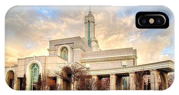 Timpanogos Temple IPhone Case