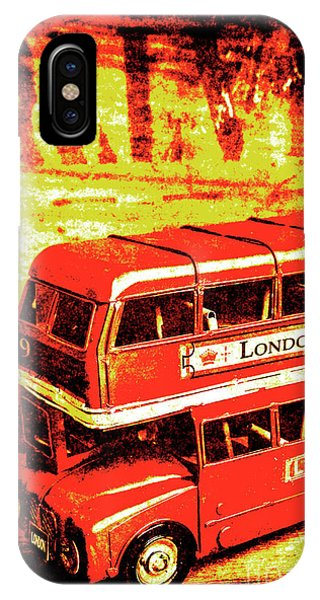 Greater London iPhone Case - Tin Sign Travels by Jorgo Photography - Wall Art Gallery