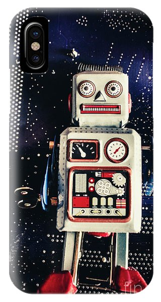 Robot iPhone Case - Tin Toy Robots by Jorgo Photography - Wall Art Gallery