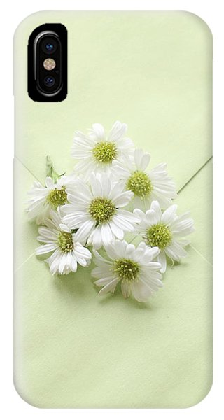 Tiny Daisies On Green Envelope IPhone Case
