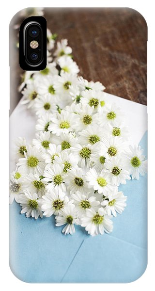 Tiny Daisies Spilling From Blue Envelope IPhone Case