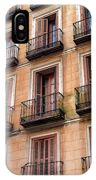 IPhone Case featuring the photograph Tiny Iron Balconies by T Brian Jones