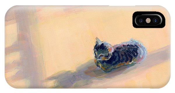 Tabby iPhone Case - Tiny Kitten Big Dreams by Kimberly Santini