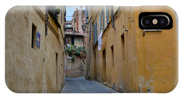 Tiny Street In Siena IPhone Case