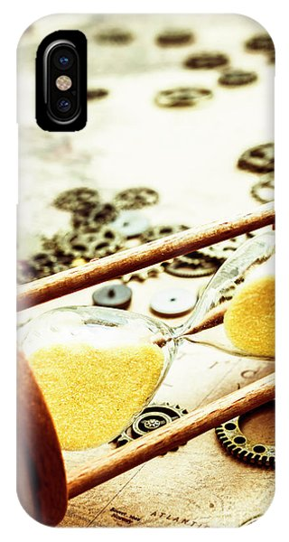 Navigation iPhone Case - Tipping The Time Map by Jorgo Photography - Wall Art Gallery
