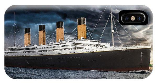 Titanic Photo Restoration Phone Case by Brent Shavnore