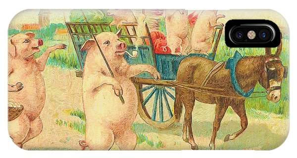 To Market To Market To Buy A Fat Pig 86 - Painting IPhone Case