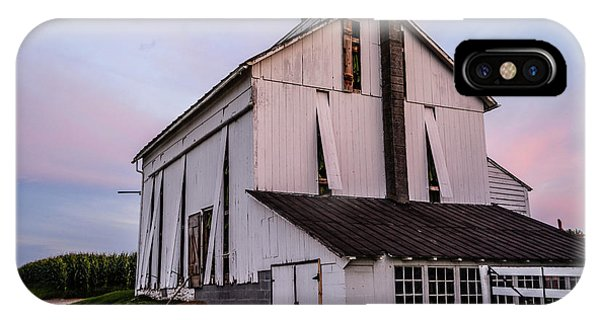 Tobacco Barn At Dusk IPhone Case